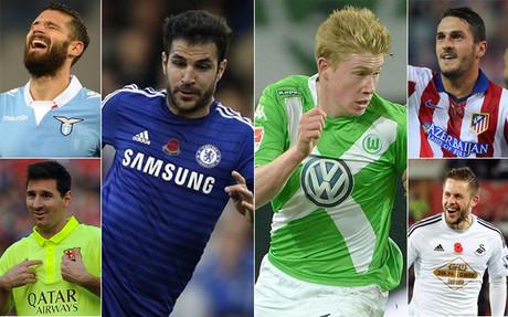 Las asistencias son cosa de estos jugadores en Europa