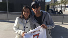 Neymar, junto a Vanessa Pereira