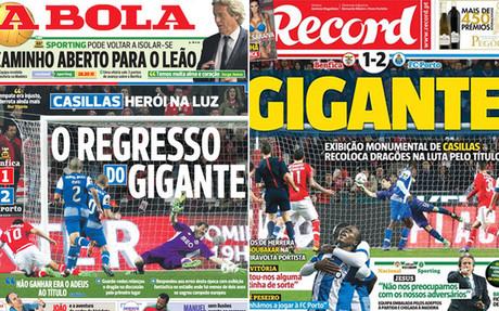 La prensa portuguesa se rinde a la actuaci�n de Casillas