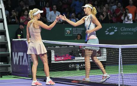 Wozniacki demostr� ante Maria Sharapova que est� en un gran momento de forma