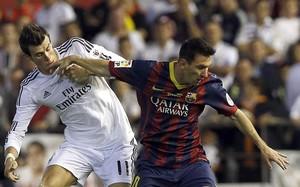 Leo Messi, durante un encuentro contra el Madrid