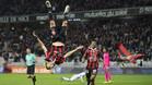 Belhanda protagonizó una celebración acrobática tras el segundo gol del Niza