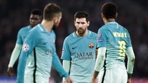 Messi, Iniesta y Busquets acabaron afectados