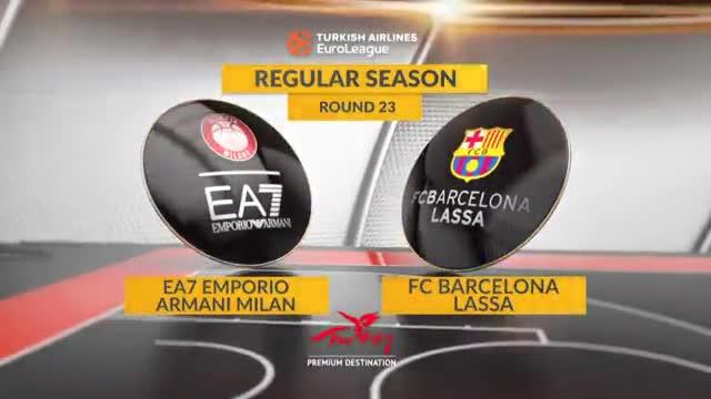 Las mejores imágenes del Emporio Armani Milano - FC Barcelona Lassa