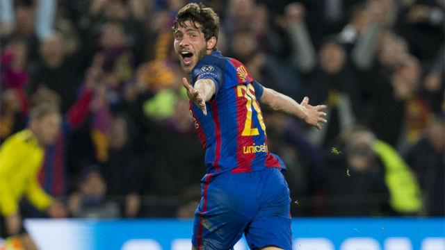 Las mejores imágenes del gol de Sergi Roberto