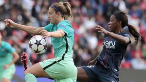 Las futbolistas del Barça plantaron cara al PSG, sobre todo en la primera mitad