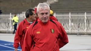 Luis Fernández, en su última experiencia, al frente de la selección de Guinea Ecuatorial