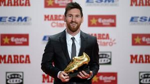 Leo Messi recibió su cuarta Bota de Oro