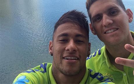 Neymar colg� ayer esta fotograf�a desde el hotel de concentraci�n de Miami