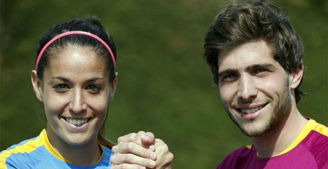 Sergi Roberto y Olga Garc�a, mano a mano para llenar el Mini