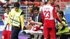 Óscar Duarte se lesionó en el campo del Eibar en el tiempo de descuento