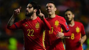 Isco marcó un gran gol ante Israel