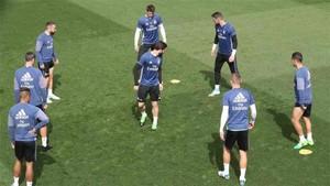 La plantilla del Real Madrid entrenó en Valdebebas