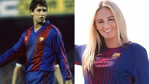Lineker y Duggan, vestidos del Barça