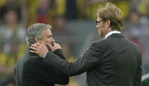 Jurgen Klopp, junto a Jose Mourinho