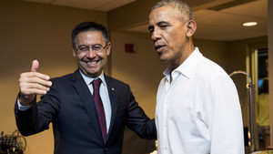 Obama, con Josep Mª Bartomeu