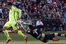 Luis Su�rez marc� uno de los goles frente al Granada