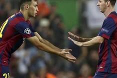 Messi fue sustituido por Munir