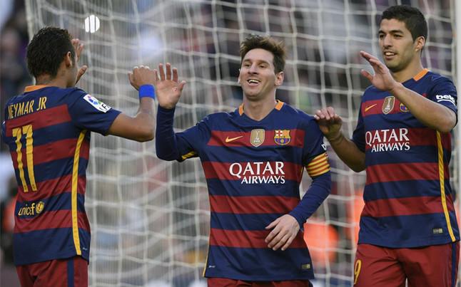 El tridente del FC Barcelona golea y brilla en las asistencias