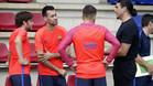 Una visita sorpresa en el entrenamiento del FC Barcelona