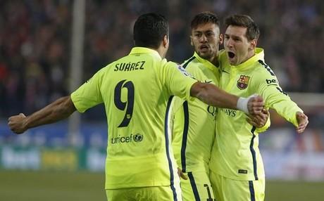 Su�rez, Messi y Neymar, en plena forma
