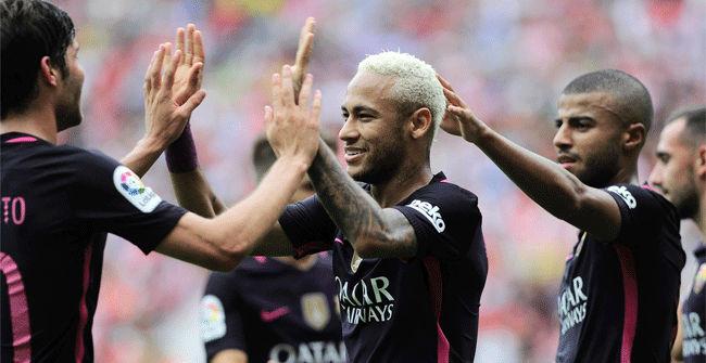 El Barça tira de talento y pólvora en El Molinón para golear sin Messi