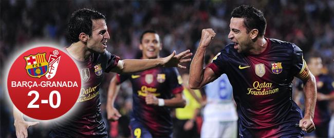Xavi desatasca al Barça