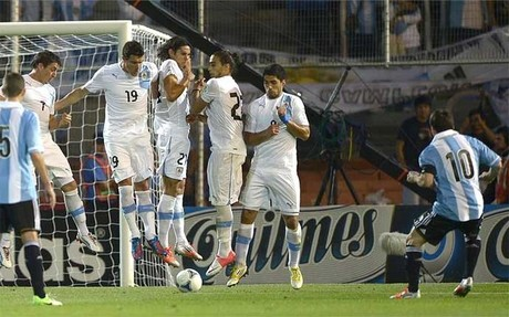 Lionel Messi credits Ronaldinho and Pirlo for under the wall free kick v Uruguay