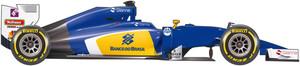 Coche del equipo Sauber para el Mundial 2016 de F1