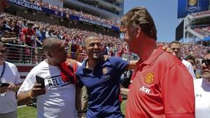 Luis Enrique y Van Gaal coincidieron en el Barça
