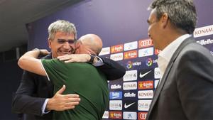 Jordi Mestre y Albert Soler acompañaron a Xavi Llorens en su despedida