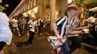 La alarma por la explosión de un petardo provocó una estampida en la plaza de San Carlo