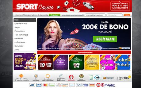 Consigue hasta 200 euros para jugar registr�ndote ahora en Sport Casino