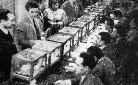 Once fueron las urnas que el FC Barcelona habilit� en su sede social del Pasaje M�ndez Vigo en noviembre de 1950. Casi 9.000 socios de los 31.000 con derecho a voto depositaron su sufragio