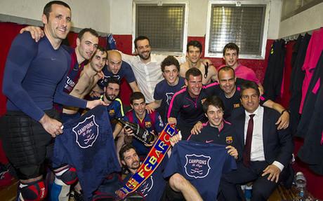 El FC Barcelona revalidó el título de campeón de la OK Liga