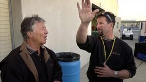 Mario Andretti, junto a su hijo Michael, director ejecutivo de Andretti Autosport