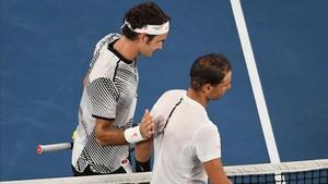 Roger Federer tuvo palabras de reconocimiento hacia Rafa
