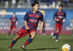 El jugador coreano Lee debutó con el Juvenil A del FCBarcelona