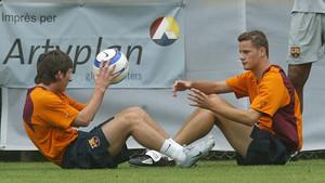 Messi y Riera debutaron el mismo día con el primer equipo del Barça