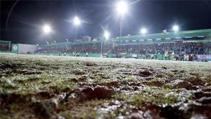 La nevada caída en Lotte impidió la disputa del encuentro