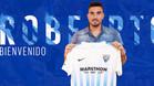 Roberto posó con la camiseta de su nuevo club