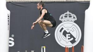 Gareth Bale durante un entrenamiento del Real Madrid en Los Ángeles en la pretemporada 2017/18