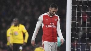 Lucas Pérez ha tenido escaso protagonismo en el Arsenal