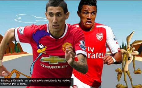 Consideran a Di Mar�a y Alexisel Correcaminos y el Coyote de la Premier League