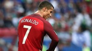 Cristiano Ronaldo, decepcionado por el empate ante México