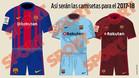 Así son las tres camisetas de la temporada 2017/2018