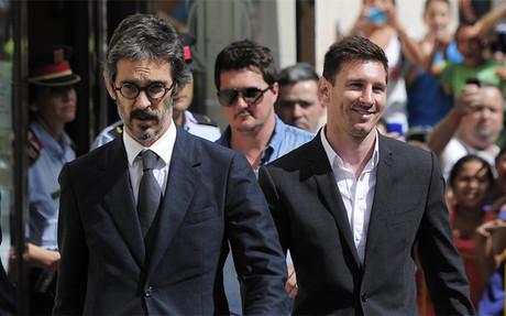 Leo Messi, el d�a que declar� en los juzgados de Gav�