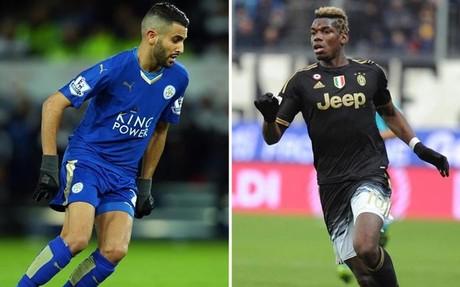 Mahrez y Pogba brillan en Leicester y Juventus