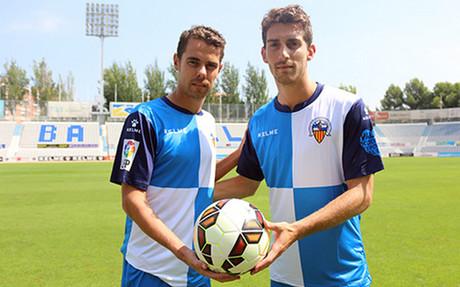 Marcos Garc�a y Lucas Porcar, en la Nova Creu Alta