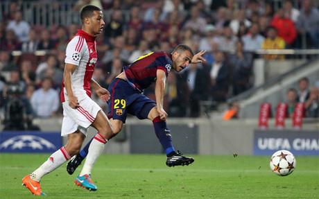 Sandro fue el autor del tercer gol del Bar�a en el �ltimo encuentro de Champions, ante el Ajax